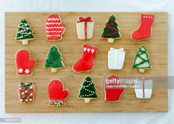christmas decoration on table - vanda stock pictures, royalty-free photos & images