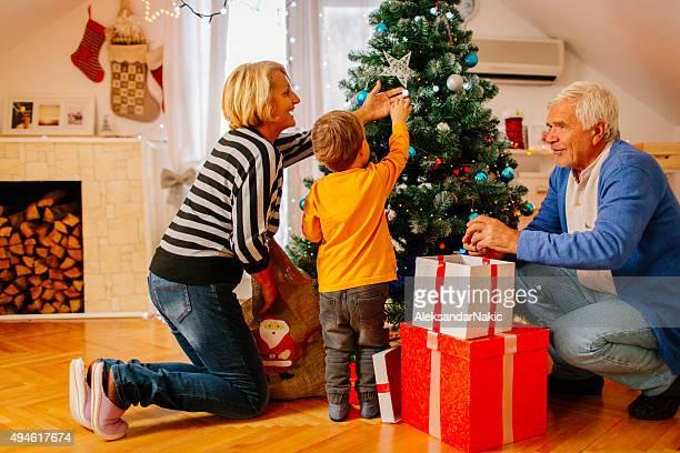 Décoration de Noël avec mes grands-parents