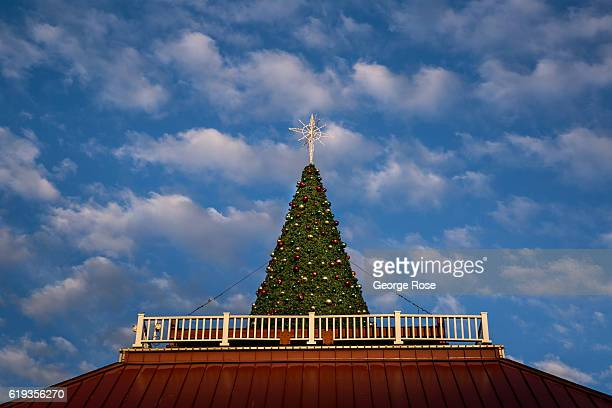 Christmas decorations are already up at the Smoky Mountain Opry on October 18, 2016 in Pigeon Forge, Tennessee. Located near the entrance to Great...