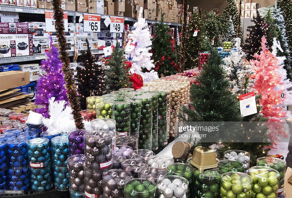 christmas decorations are displayed at a walmart store on november news photo getty images