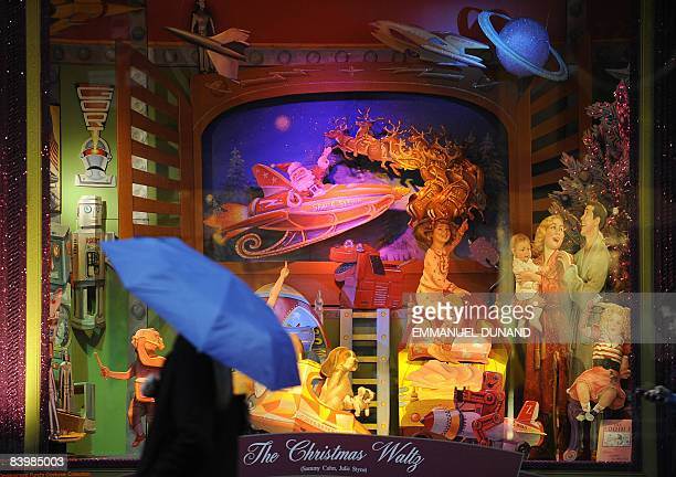 Christmas decorations are on display at Bloomingdales department store in New York December 10 2008 Despite government figures showing national...