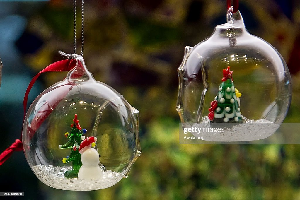Christmas decorations are seen on December 8, 2015 in Venice, Italy.  Christmas markets