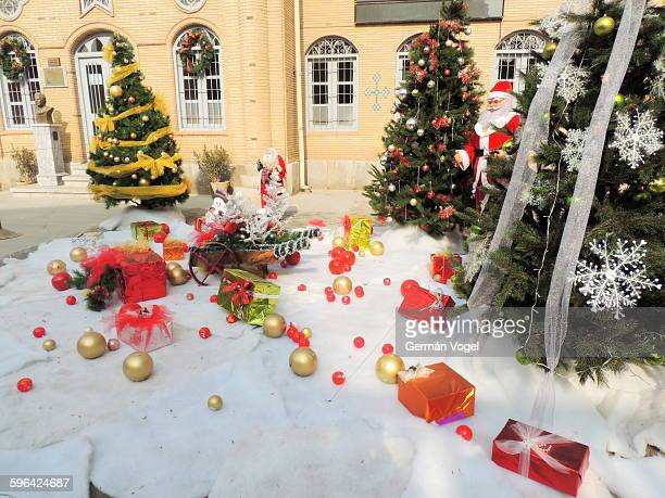 christmas decorations at armenian church in iran - merry christmas in armenian stock photos and pictures