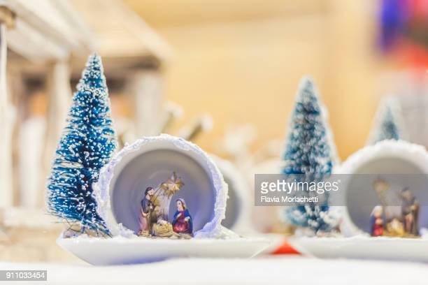 christmas decorations in christmas market - nativity stock photos and pictures