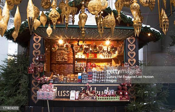 Christmas decorations in christmas market, Salzburg, Austria