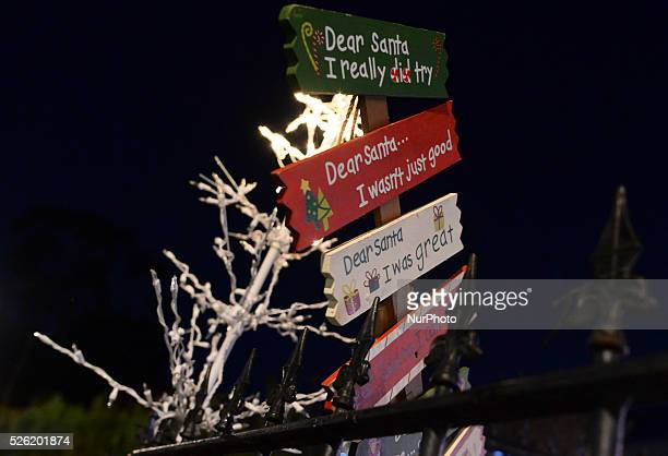 Christmas decorations in front of the house in Dalkey in the South of Dublin as more and more houses around the Irish capital are getting ready for...