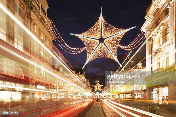 Christmas decorations in Oxford Street; London