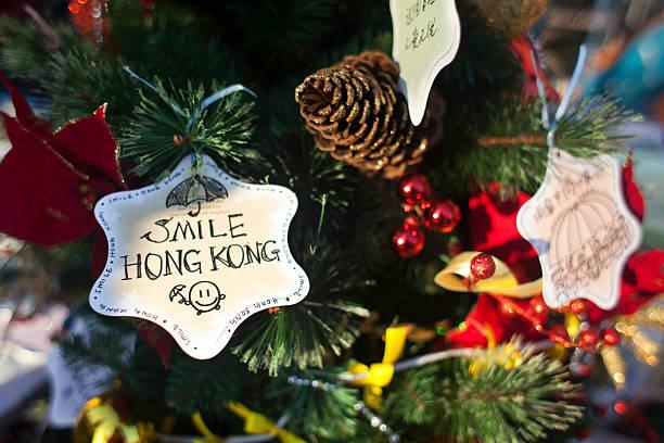 peoples republic of china hong kong umbrella movement christmas tree decorations - Umbrella Christmas Tree