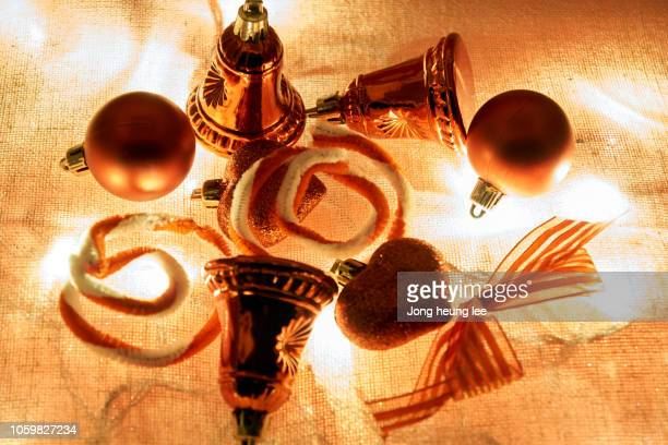 christmas decorations on the lights - jong heung lee stock pictures, royalty-free photos & images