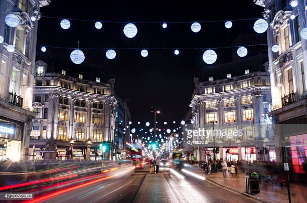 Christmas decorations, Oxford Street, central London