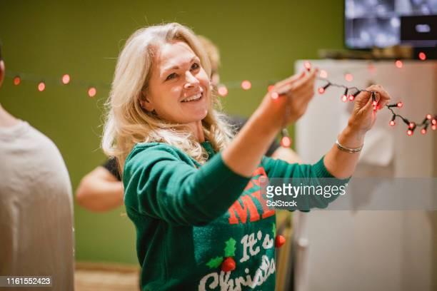 kerstversiering - christmas jumper stockfoto's en -beelden
