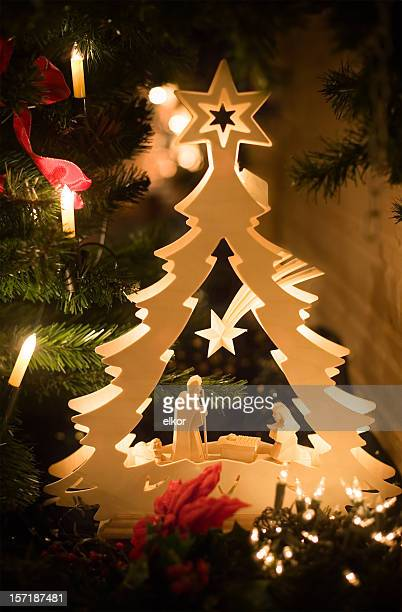 christmas decorations - religious christmas stock photos and pictures