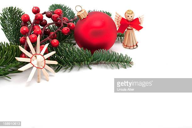 Christmas decorations, with copy space