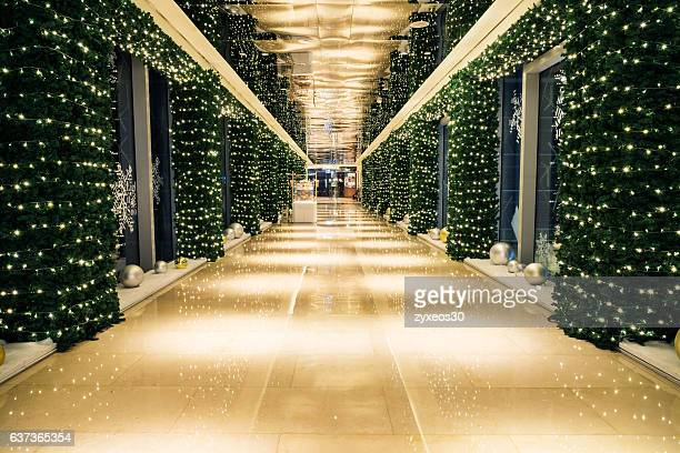christmas decorations,china - east asia,shanghai.shopping mall passageway. - china east asia stock photos and pictures