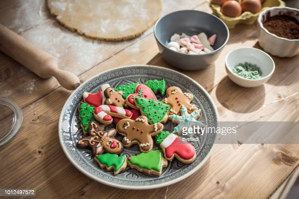 christmas delight - christmas cookies stock pictures, royalty-free photos & images