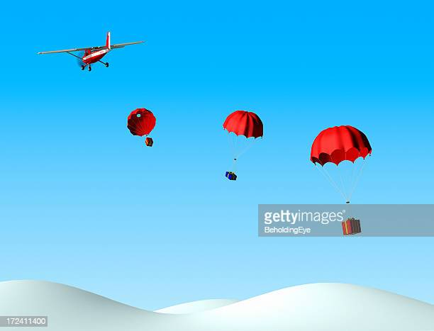christmas delivery xl - christmas plane stock pictures, royalty-free photos & images