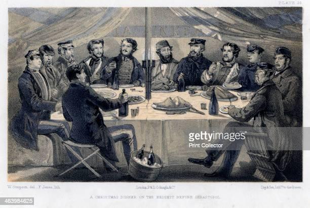 A christmas dinner on the hights before Sebastopol c1850