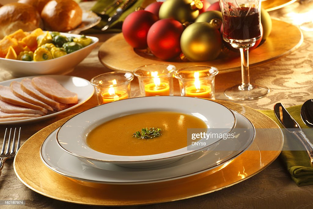 Christmas Dinner : Stock Photo