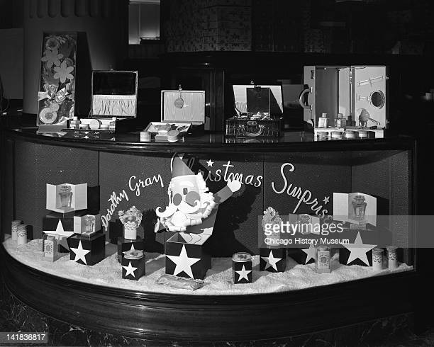 Christmas Display in Cosmetic Section at Marshall Field & Company, Chicago, Illinois, December 18, 1941.
