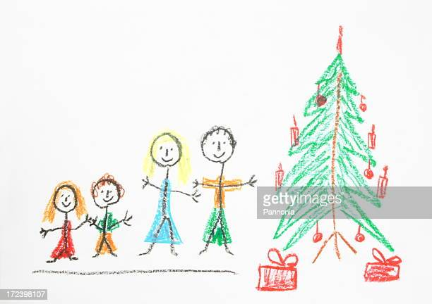 christmas drawing - artistic product stock photos and pictures