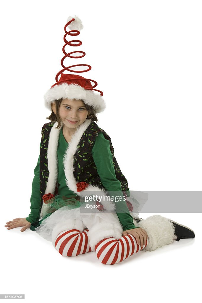 Christmas Elf In A Funny Hat Stock Photo   Getty Images