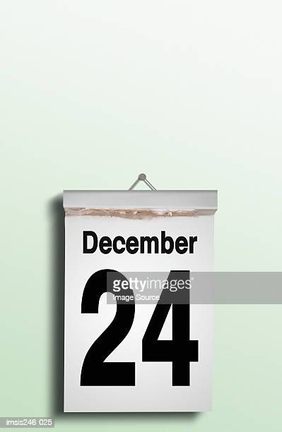 Christmas Eve date on calendar