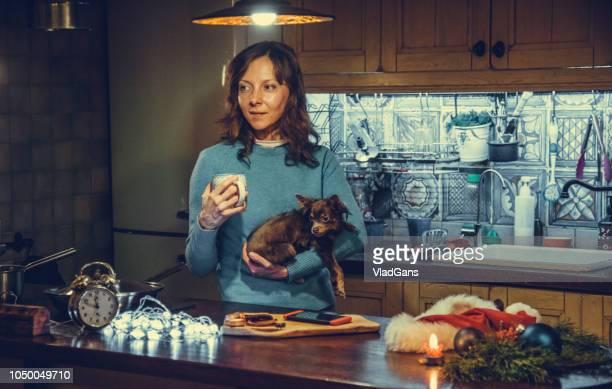 Christmas Eve. Mom with mobile