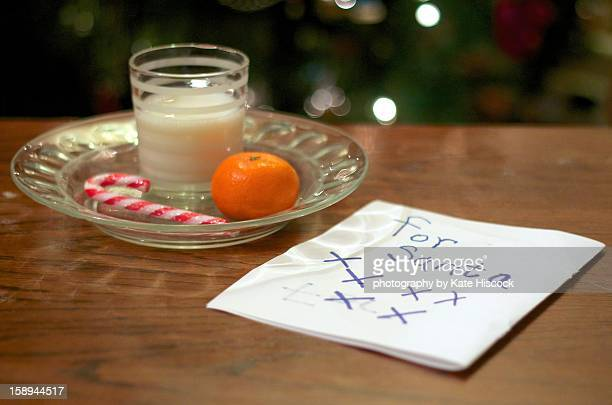 A Christmas Eve Snack and Note for Santa