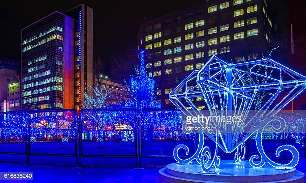 christmas festival in odori park - snow festival stock pictures, royalty-free photos & images