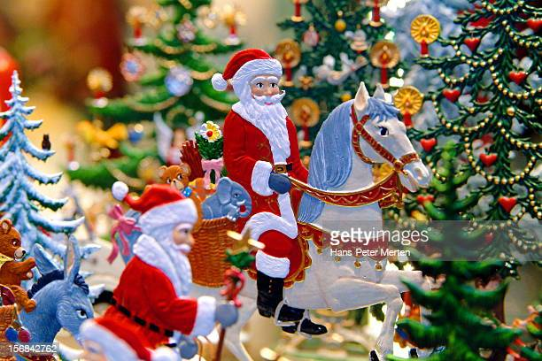 christmas figures in christmas shop