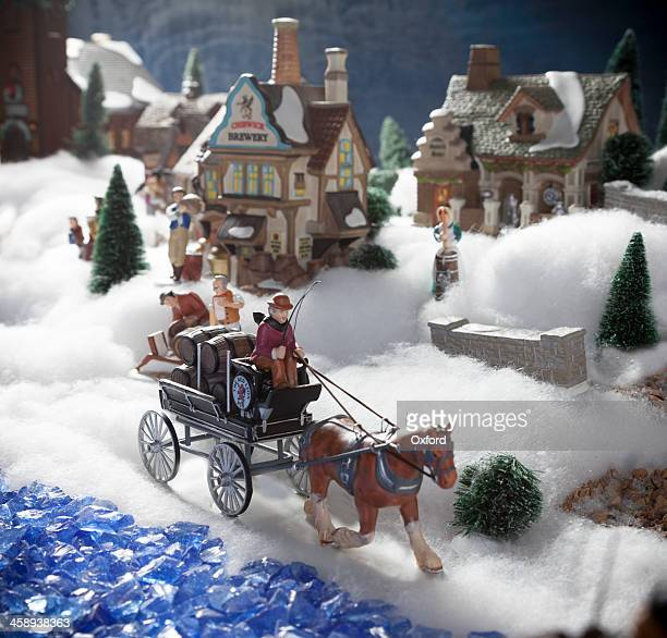 christmas figurines - christmas horse stock pictures, royalty-free photos & images