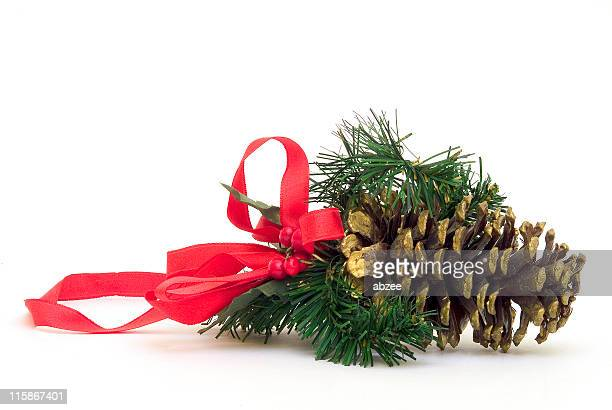 Weihnachten fir Hütchen mit roter Schleife