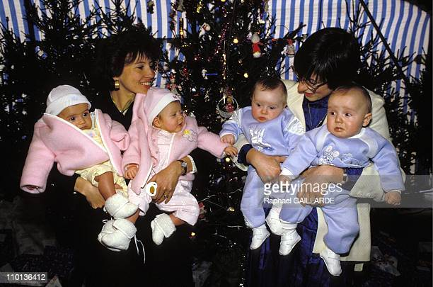 Christmas for first 100 test tube babies in France on December 13 1987