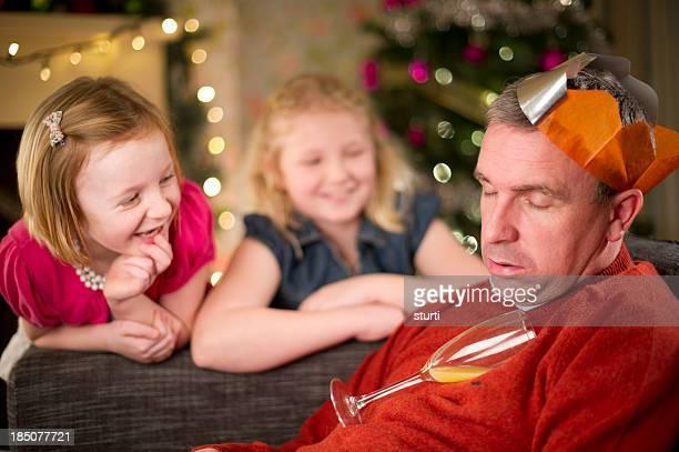 christmas fun - hangover stock photos and pictures