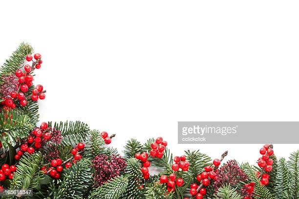 christmas garland - holly stock pictures, royalty-free photos & images
