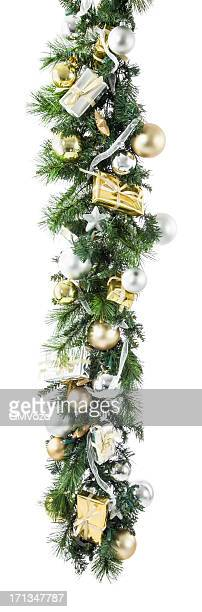 christmas garland - christmas garland stock pictures, royalty-free photos & images