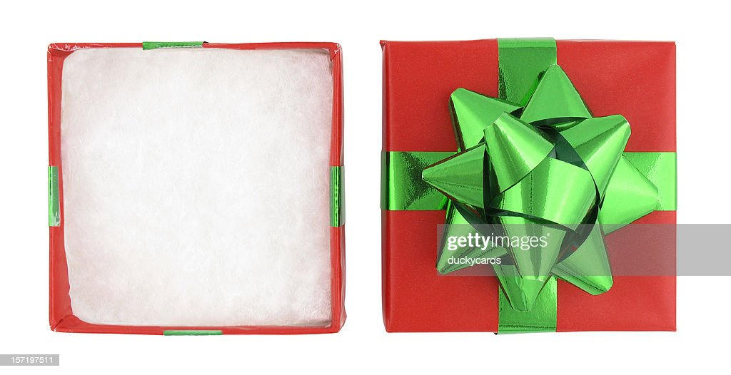Christmas Gift Box (with clipping paths) : Stock Photo