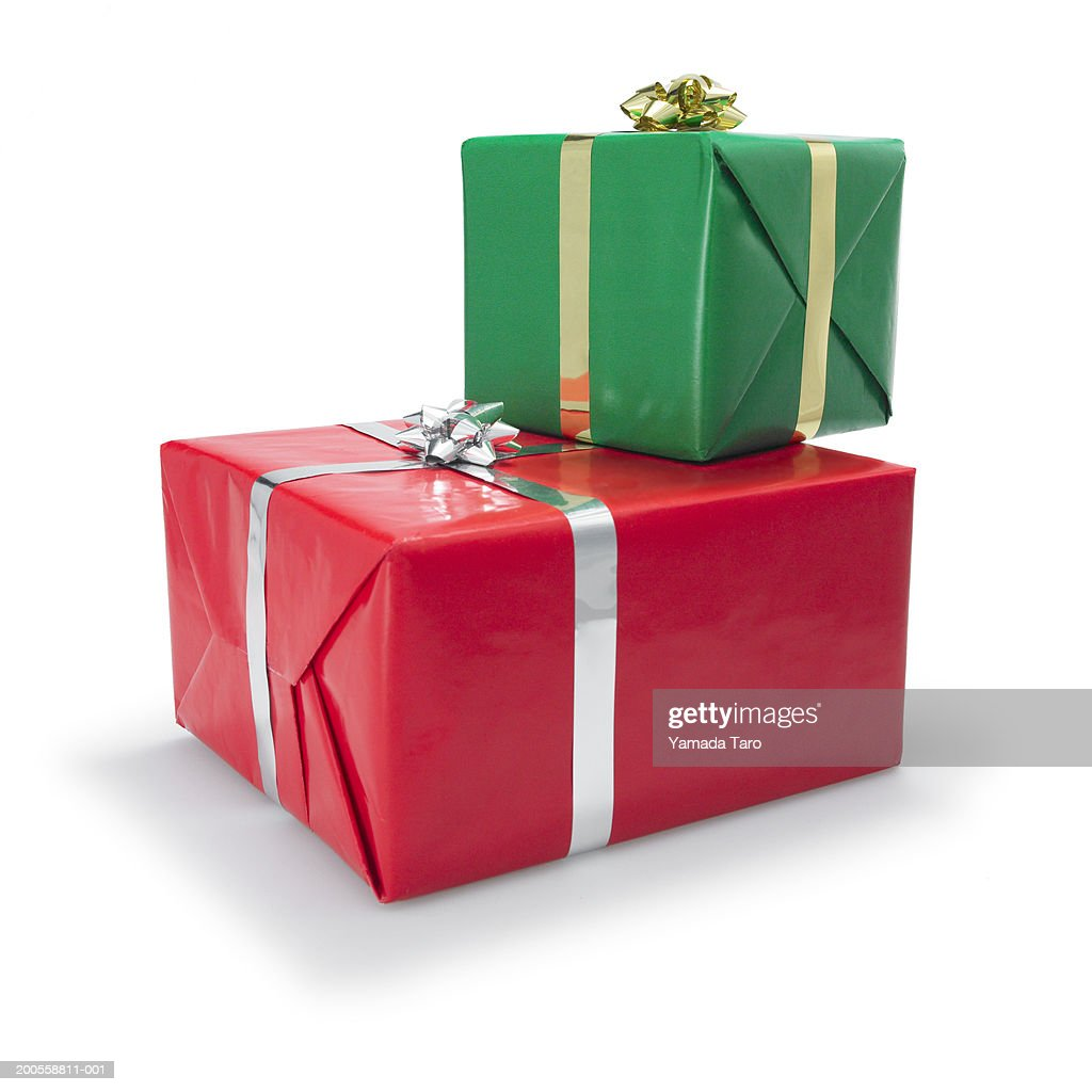 Christmas gift boxes closeup getty images christmas gift boxes close up negle Image collections
