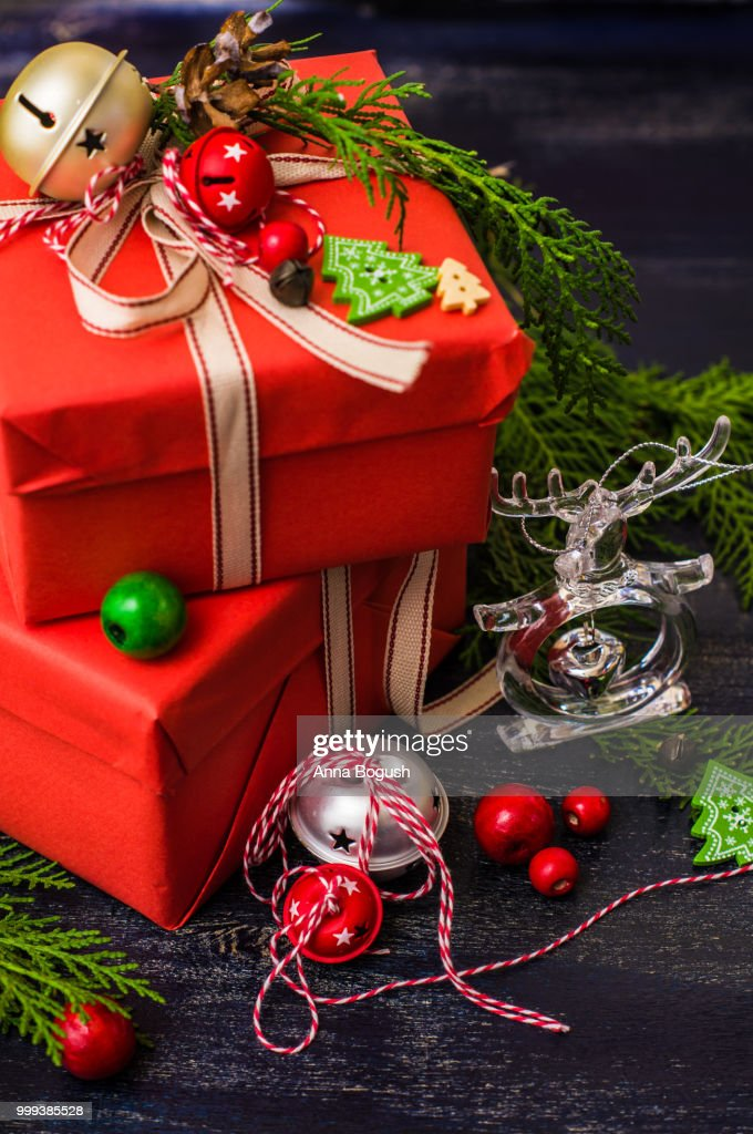 Christmas gift boxes getty images christmas gift boxes negle Gallery