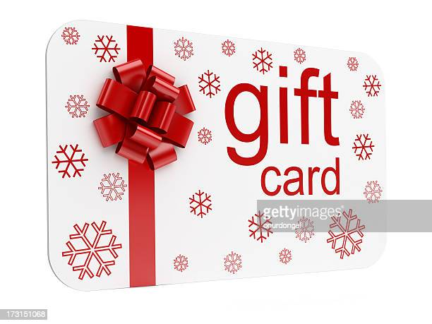 christmas gift card - gift card stock photos and pictures