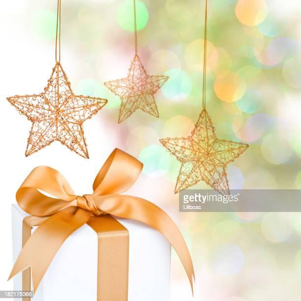 Christmas Gift & Defocused Lights.