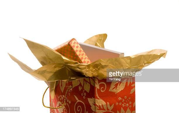 Weihnachtsgeschenk in Tasche