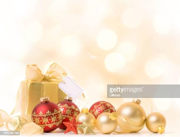 presente com etiqueta de natal - etiqueta mensagem - fotografias e filmes do acervo