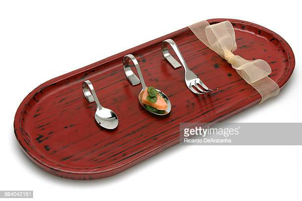 Christmas gifts Amuse Bouche spoons and fork – La Sanctuaire Boule $1000 $800 Tray from Wa Raku $6789 Little Tokyo