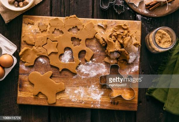 Christmas Gingerbread Man Cookies Holiday Baking Dough