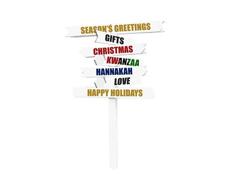 Christmas, Hannakah, Kwanzaa Directional Arrow Sign 497542556