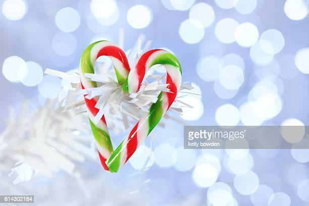 christmas heart shape candy cane