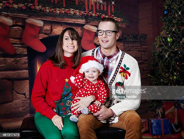 christmas holiday family portrait - stockings photos stock pictures, royalty-free photos & images