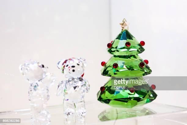Christmas Home Decor Crystal Objets
