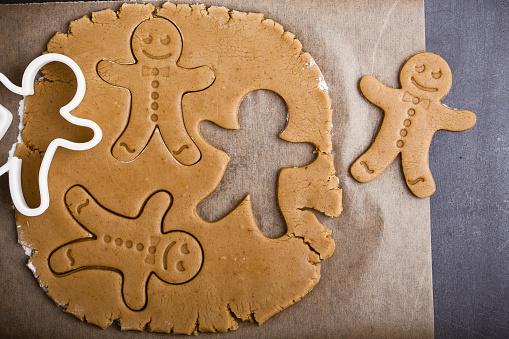 Christmas homemade gingerbread man - gettyimageskorea